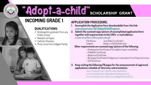 """Adopt-A-Child"" Scholarship for Grade School"